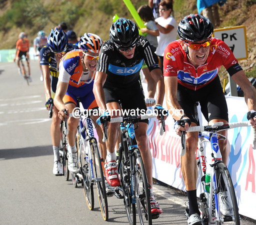 Wiggins has sensed the advantgae, but he is also having to chase Cobo very hard now..!