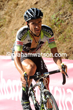 Juan Jose Cobo has attacked now - and they won't pull him back before the finish..!