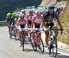 Vacansoleil and Katusha now command the chase on the Puerto de le Ventana...