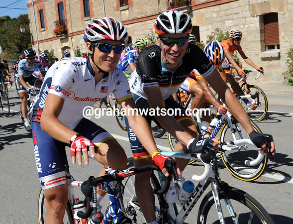 These guys are happy - Matthew Busche and Robert Wagner will be teamates in 2012...