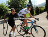 Froome needs a quick-wheel change from his Sky mechanic...
