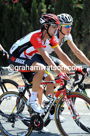 Andreas Kloden and Tony Martin have a lot too talk about as well - Kloden has a bad back and Martin is joining Quick-Step for 2012...