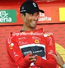 Daniele Bennati is a happy new race-leader of the Vuelta...