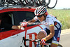 Matthew Busche might be the USA champion, but he too has to carry water today...!
