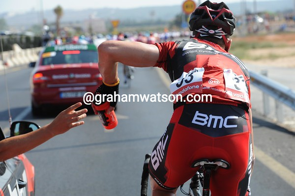 Taylor Phinney is at work as well - this could be a hard Vuelta baptism for the American if it stays this hot..!