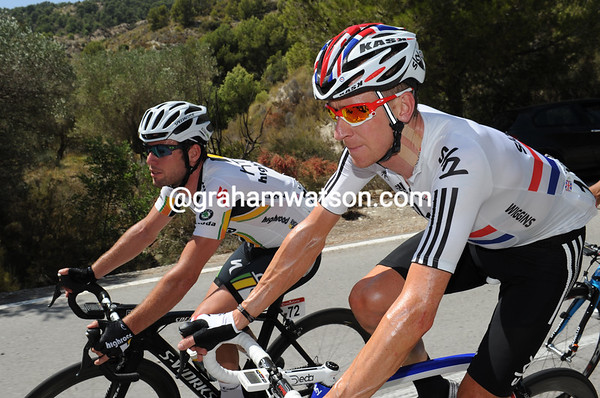 Brits on tour - Mark Cavendish and Wiggins have a lot to talk about with the World Champiosnhips coming, as well as a few team changes, and the 2012 Olympics..!