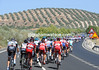 After a 38-kilometre neutralized start (!), the race heads into the olive-covered hills of Andalucia...