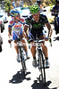 Angel Madrazo and Johannes Frohlinger have gone after Albasini - the other escapers will be caught by the peloton...