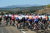 The peloton saunters through the unpopulated wilderness called Extremadura...