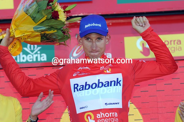 Bauke Mollema is now the new, very shy, leader of the Vuelta...