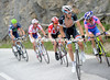 Frank Schleck makes an attack up-front, he draws Cunego, Leipheimer, Di Luca and Solar with him, for a while...