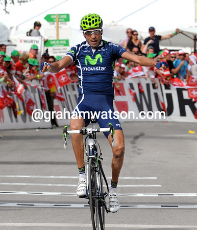 Mauricioo Solar wins stage two after attacking in the last two-kilometres...