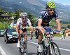 Gutierrez leads Mondory on to the long ascent to Crans-Montana, but the peloton is almost upon them...