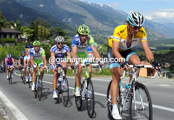 Cancellara had voluntarily dropped well off the pace now...