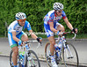 Two men are on the attack - Cesare Benedetti and Sylvain Chavanel...