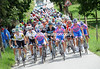 Lampre is leading the compact peloton, but it cannot really be called a chase...