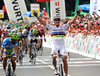 Thor Hushovd wins stage four - and it's his first victory as World Champion..!