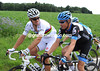 This converstion is easier to read - Thor Hushovd wants Danielson to help set up his sprint in the finale...