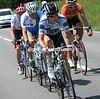 Manuele Boaro leads the day's escape away, in it too are Net App's Jan Barta, Team Type 1's Alessandro Bazzana, and Daniel Sesma...