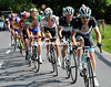 Monfort bears the strain ahead of Fuglsang as the front group shrinks even more...