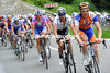 Peter Weening is using his climbing prowess to reduce the gap a little for his Rabobank teamates...