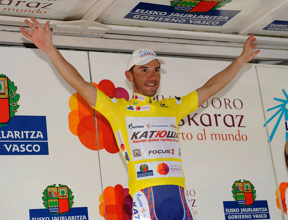 Joachin Rodriguez takes back his yellow jersey after stage three...