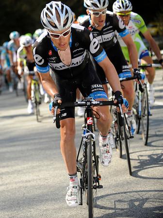 Tom Danielson is chasing for Garmin-Cervelo...