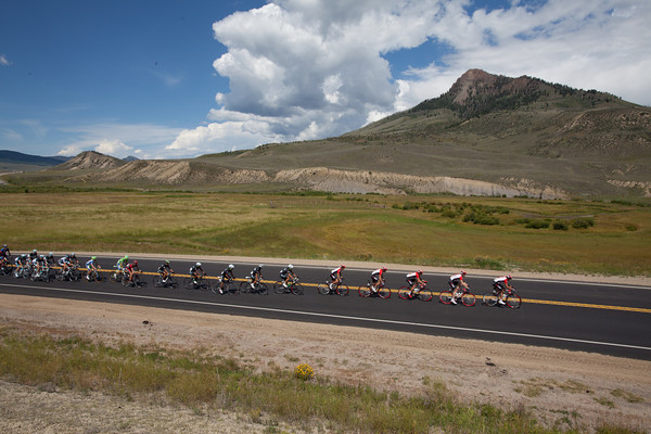 ...but neither is the peloton, as they blur through the valley.