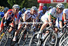 Two rivals to Cavendish, Matt Goss and Andre Greipel, take a corner in their stride...