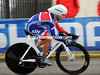 Emma Pooley swapped last year's Gold medal for a bronze today - the British girl was 24-seconds off the silver-medal...