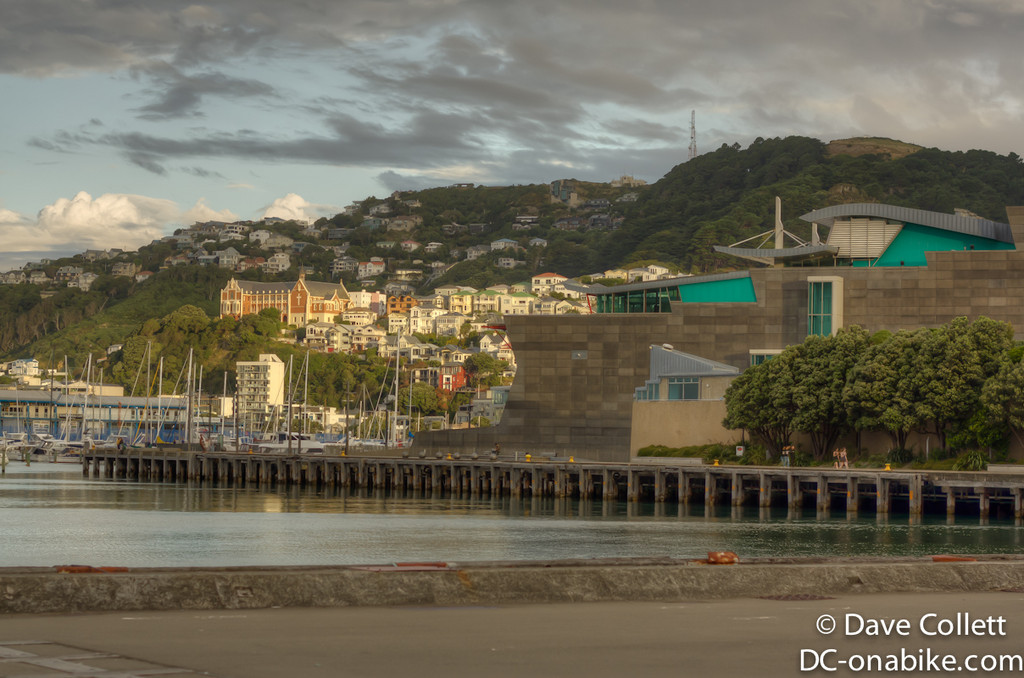 Te Papa and Mt Vic in HDR