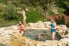 Lily, Campbell, Lexi (underwater), Jainie