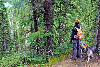 Looking back down at Sherbrooke Lake