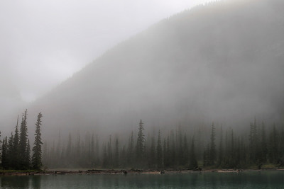 Sherbrooke Lake with morning mist II