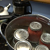 cranberry-apple sauce and roasting coffee beans