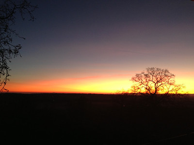 2012-12-09 Sunset at Fawn Hill