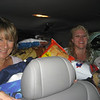 Patty & Jeanine packed into the very back seat!