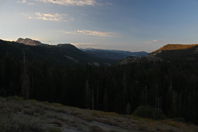 This is a view looking southward towards Mammoth Mountain and the San Joaquin river valley.
