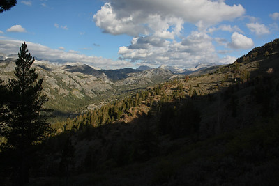 A better perspective showing the line of the valley and its termination.  Donahue Peak, Blacktop Peak and Kuna Peak appear in the background on the right.