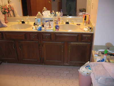 Master bathroom before 1