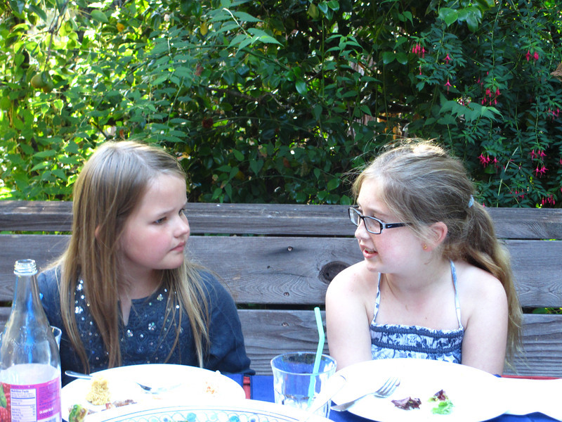 Syl with her friend Sigrid