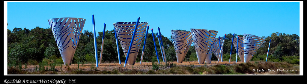 22/366 Roadside art alongside the highway near turnoff from Bussell Highway to West Pingelly, Western Australia. I have no clue what it is supposed to represent but I all it Art in a Cone.  Photographed January 2012 - © Lesley Bray Photography - All Rights Reserved.