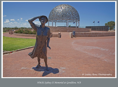 15/366 HMAS Sydney II Memorial at Mount Scott, Geraldton in Western Australia overlooking the Indian Ocean. The same ocean where HMAS Sydney II fought its last battle and was sunk with the loss of all 645 men. The Dome of Souls is comprised of 645 seagulls representing each of the men lost in the tragedy.  More about HMAS Sydney II Memorial can be found here.  Photographed January 2012 - © Lesley Bray Photography - All Rights Reserved.