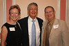 Bob Eaves, center, with the School's two Eaves Professors, Catherine Marshall and Fen English.