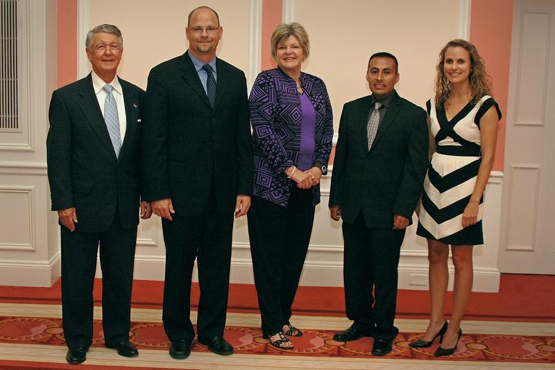 This year's honorees: Bob Eaves, Jason Painter, Janice Davis, Luis Urrieta and Nicole Pfleger.