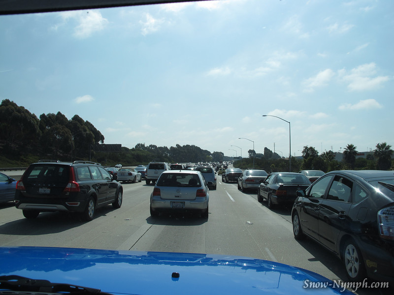 """As soon as we hit the 405, reminded how we """"don't"""" miss LA traffic"""