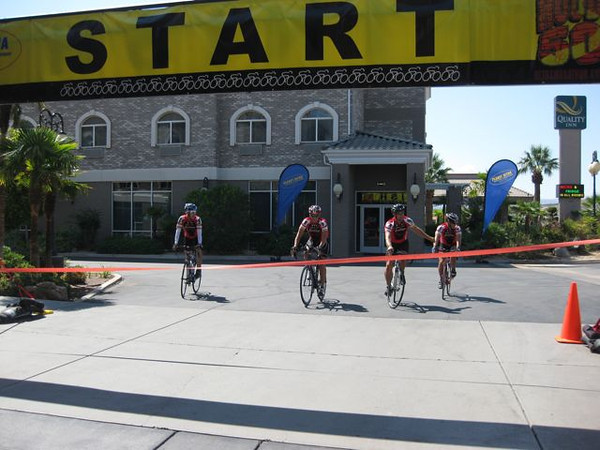 4-Man 50+ Course Record for Team Veloce Santiago: Clark Dicus, Mike Green, Doug Patterson and Nathan Reed.