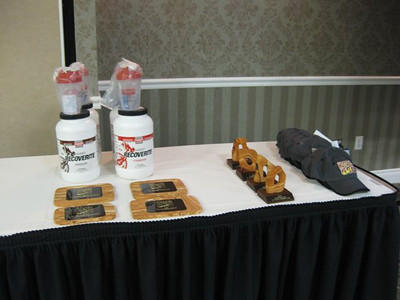 Plaques, trophies and Hammer products for the winners and Hoodoo caps for solos and teams that broke course records.