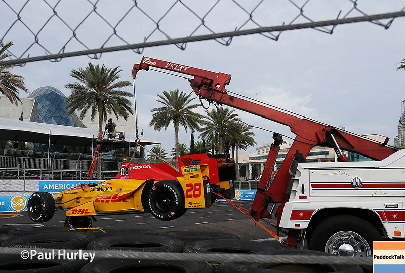 March 10-12: Ryan Hunter-Reay's car at the Firestone Grand Prix of St. Petersburg.