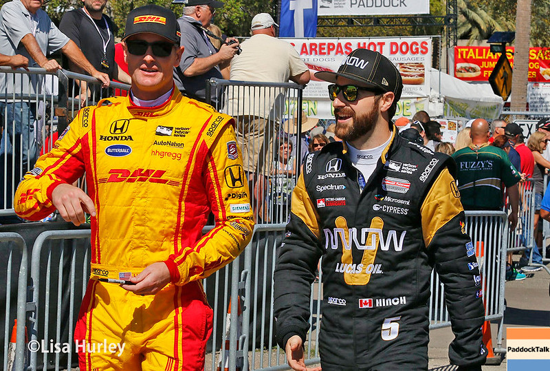 March 10-12: Ryan Hunter-Reay and James Hinchcliffe  at the Firestone Grand Prix of St. Petersburg.